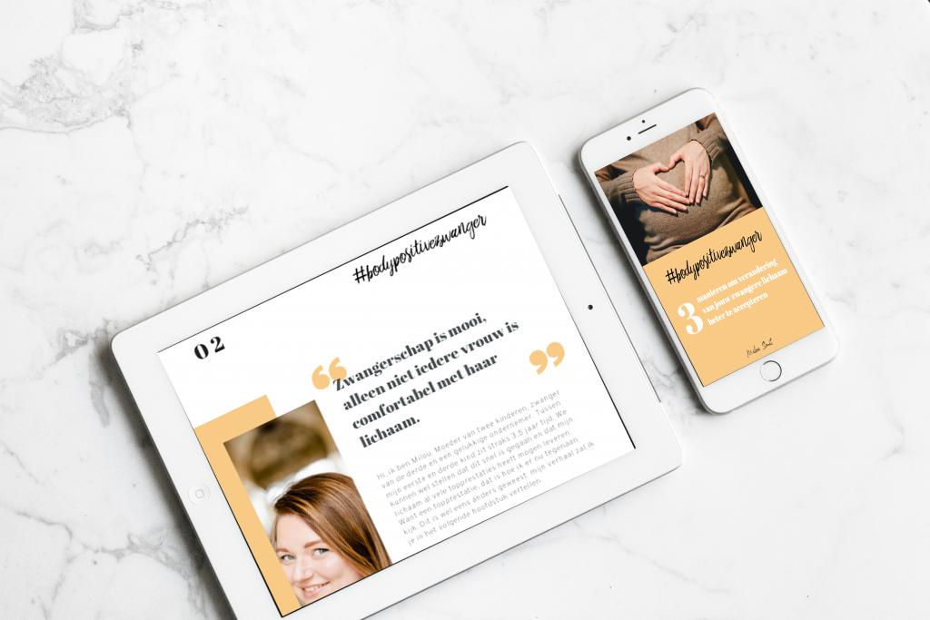 e-book verandering van het zwangere lichaam