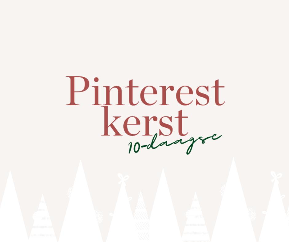 Pinterest tijdens de feestdagen