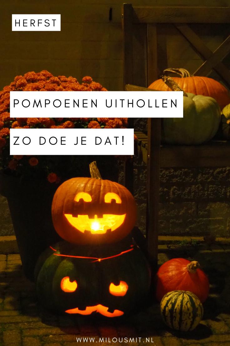 Wil je pompoenen uithollen en heb je niet zo'n goed idee waar je moet beginnen? Ik vertel je hoe ik het deed! Een leuke activiteit om tijdens de herfstvakantie te doen. | pompoen snijden | pompoen carven | tips voor de herfstvakantie | activiteiten tijdens de herfstvakantie | herfst tip | halloween pompoen versieren | pompoen decoraties