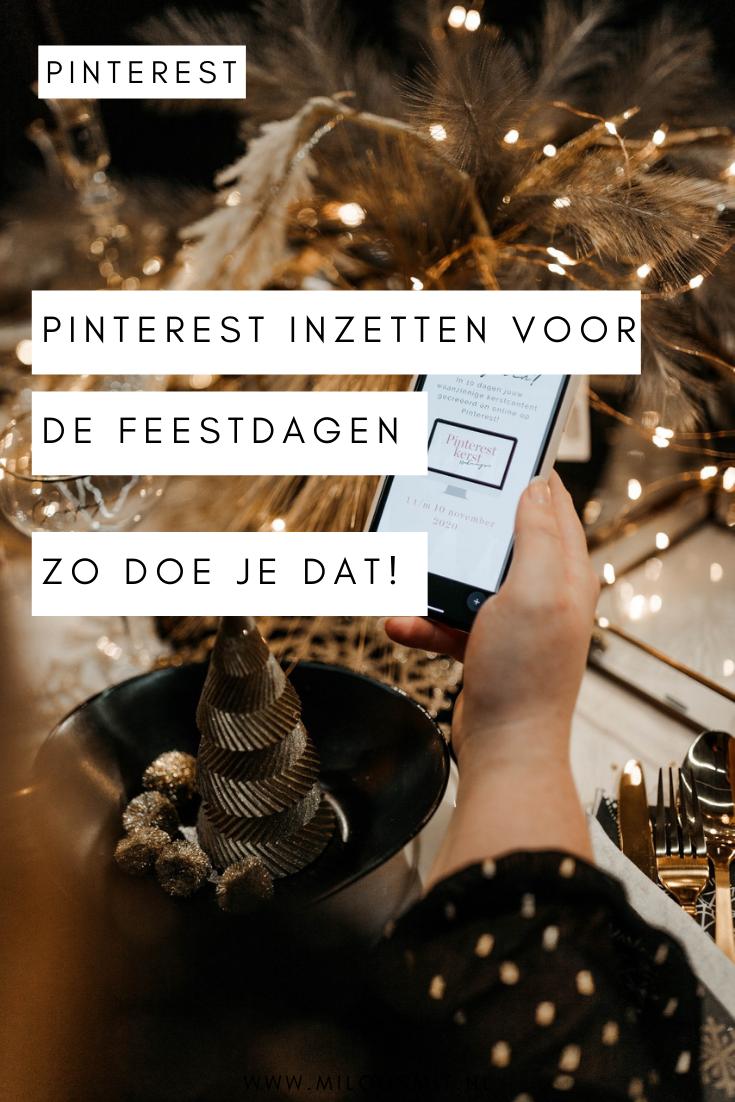 Jij kunt met jouw bedrijf profiteren van Pinterest tijdens de feestdagen. Genereer meer verkeer via Pinterest tijdens kerst, Sinterklaas en andere feestdagen. | Pinterest marketing | Pinterest voor beginners | Pinterest voor bedrijven | groeien met Pinterest