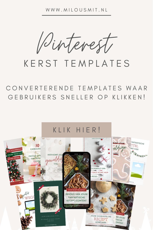 Pinterest kerst templates voor meer converterende bezoekers tijdens de feestdagen! Pinterest christmas templates | Pinterest templates Canva | Pinterest templates design | Pinterest voor beginners
