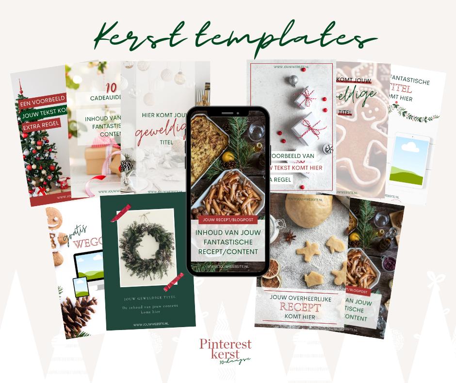 Pinterest kerst templates