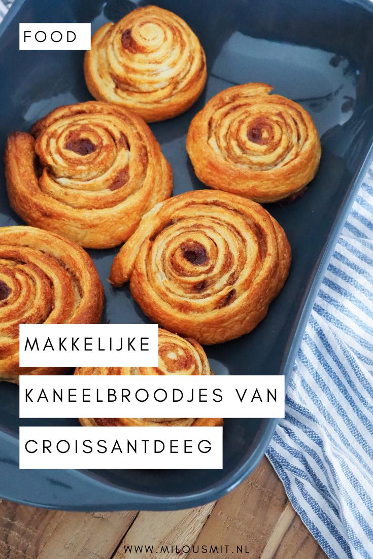 Makkelijk recept kaneelbroodjes van croissantdeeg. Wie houdt er nou niet van cinnamon buns, ofwel: kaneelbroodjes! Ik laat je met dit simpele recept zien dat je kaneelbroodjes van croissantdeeg in een handomdraai kunt maken! Snelle kaneelbroodjes   kaneelbroodjes recepten   makkelijke kaneelbroodjes   cinnamon rolls