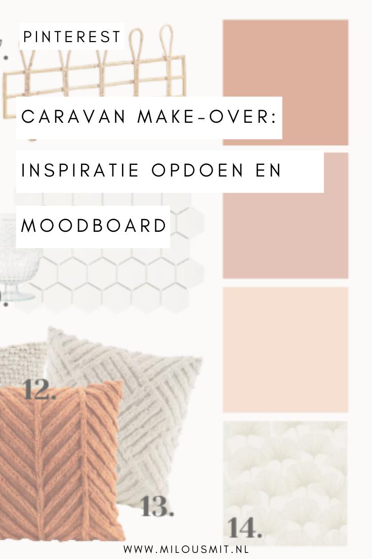 Ben jij op zoek naar een caravan om op te knappen? Wij geven onze caravan een make-over! In deze blogpost deel ik je tips voor inspiratie op te doen en laat ik je ons moodboard voor de make-over zien! | caravan make-over | caravan makeover | caravan pimpen | caravan pimpen binnenkant | caravan ideeën